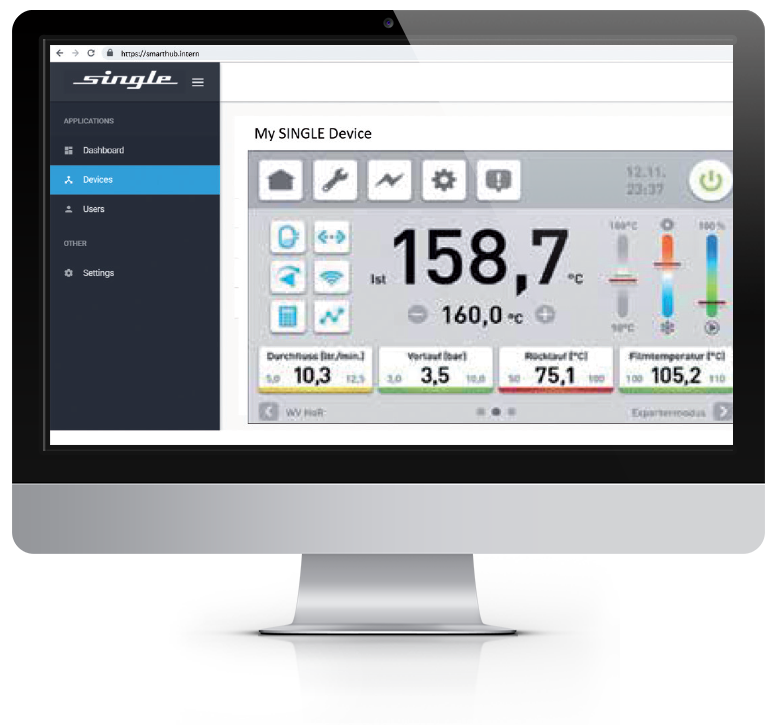 Monitor mit Controllersoftware Screenshot